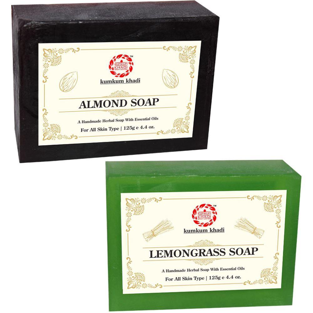Kumkum Khadi Herbal Almond And Lemongrass Soap (1Pack)