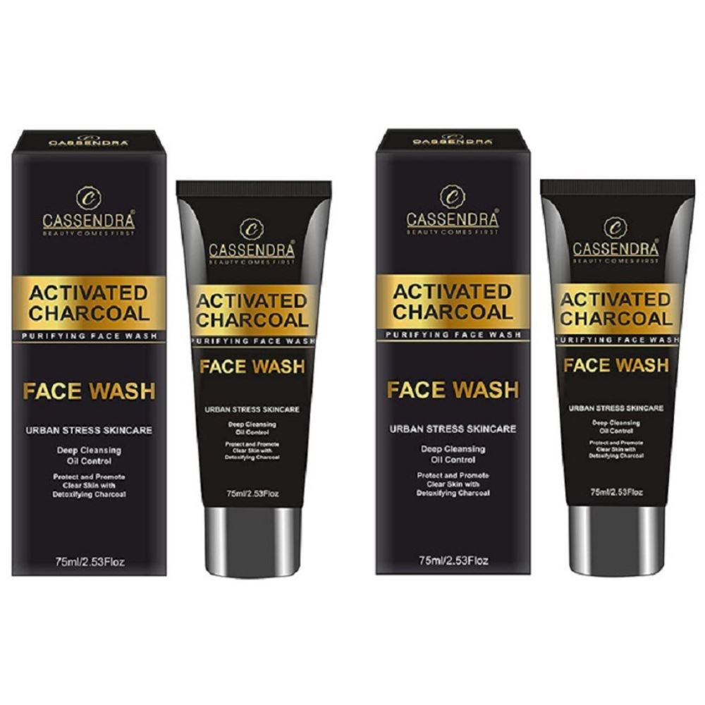 Cassendra Activated Charcoal Purifying Face Wash (150ml, Pack of 2)
