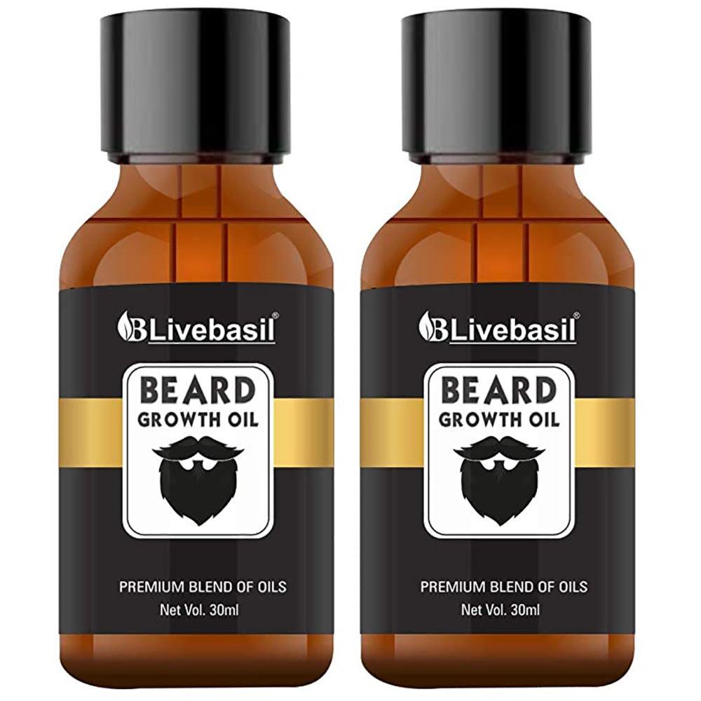 Livebasil Overseas Beard And Hair Growth Oil (30ml, Pack of 2)