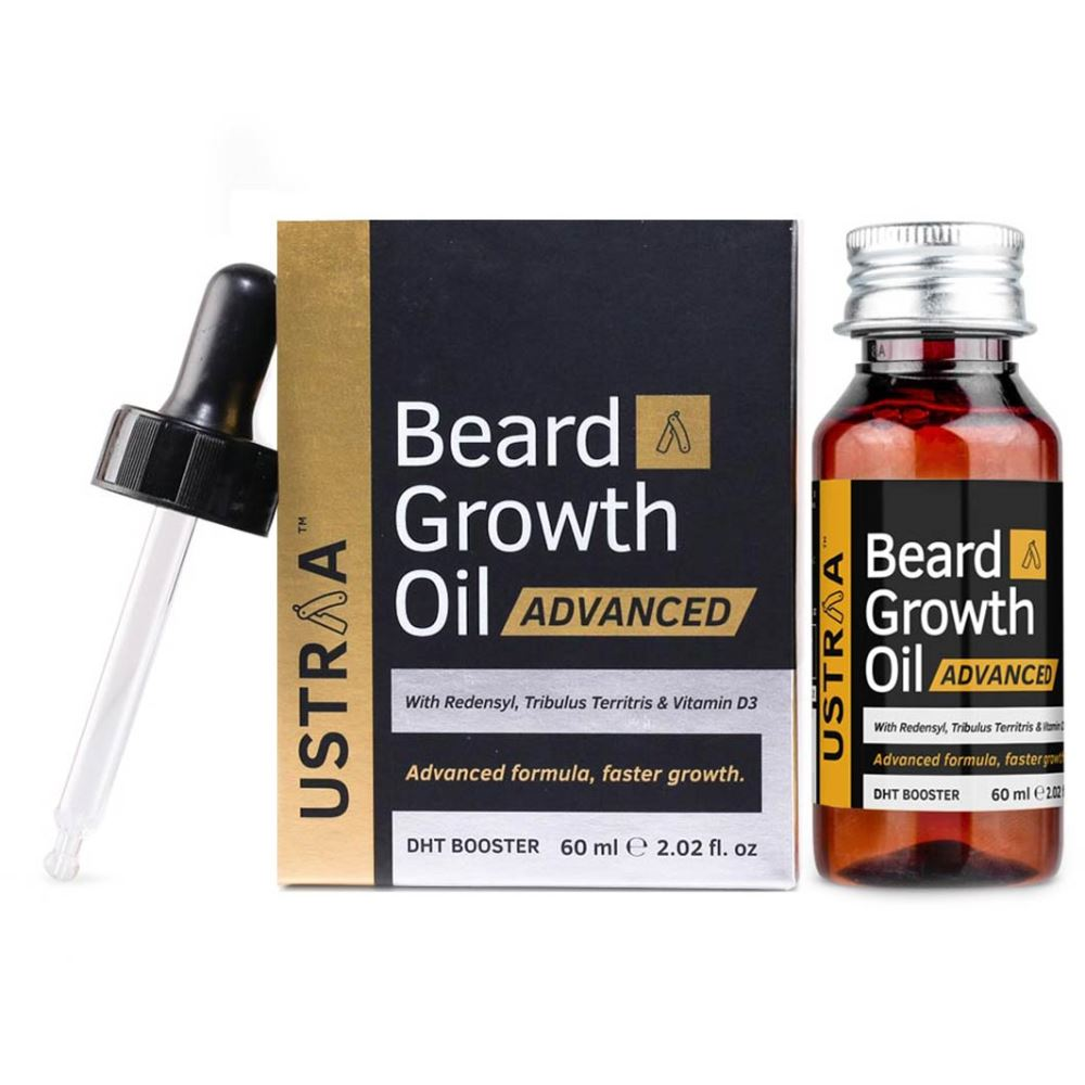 Ustraa Beard Growth Oil Advanced (With Dht Boosters) (60ml)