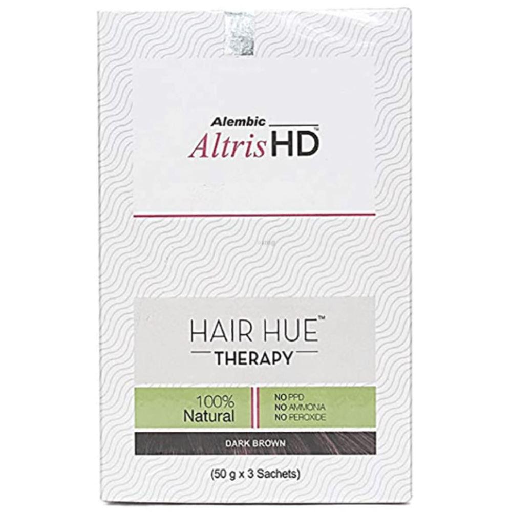 Alembic Pharma Altris HD Hair Hue Therapy Dark Brown (3Sachet)