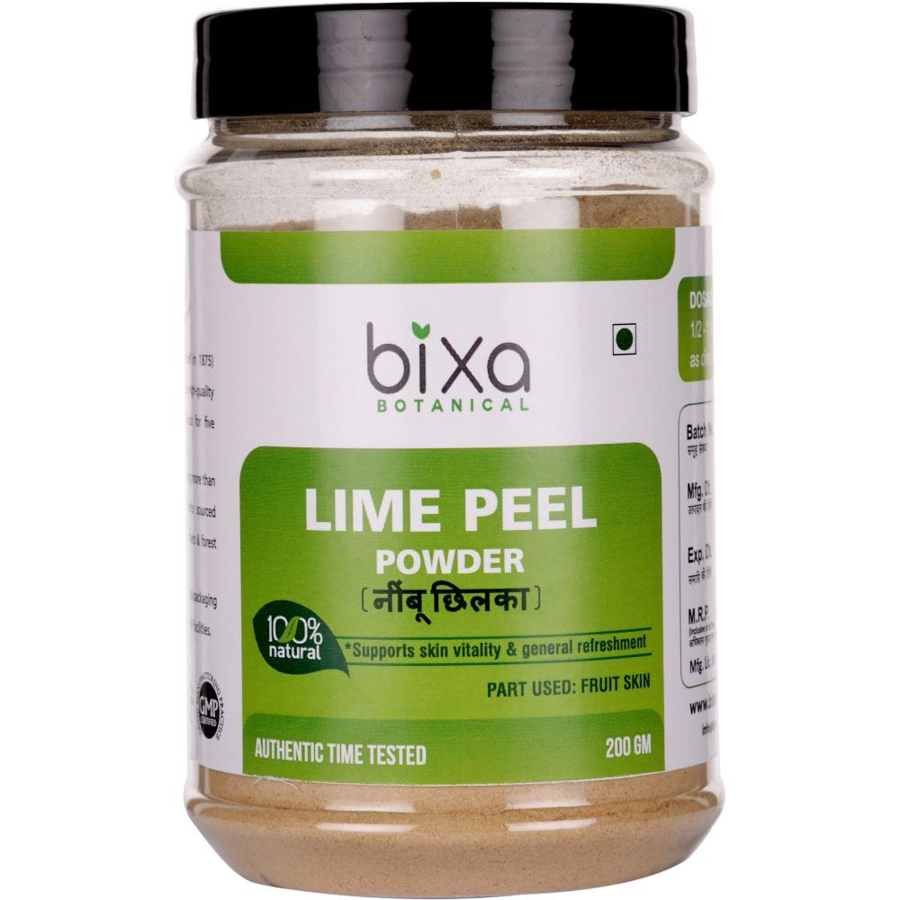 Bixa Botanical Lime Peel Powder Citrus Aurantifolia (200g)