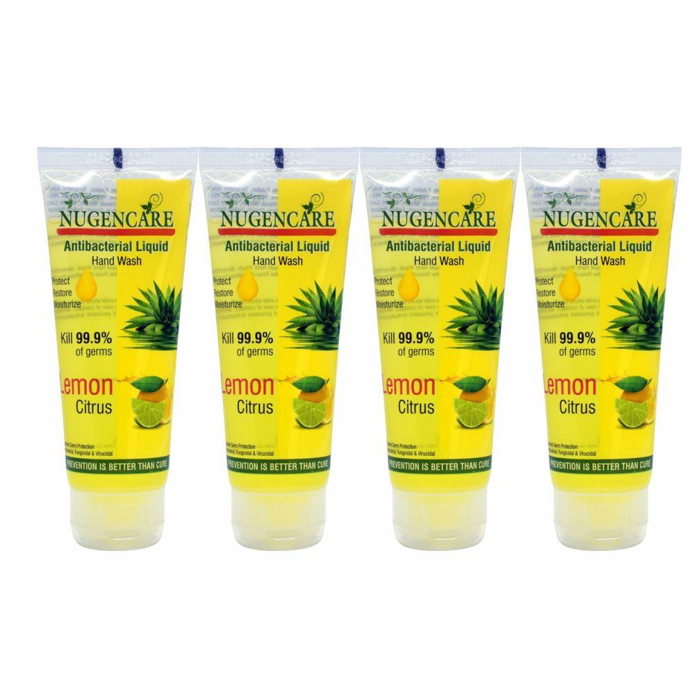 Nugencare Antibacterial Liquid Lemon Hand Wash (75ml, Pack of 4)