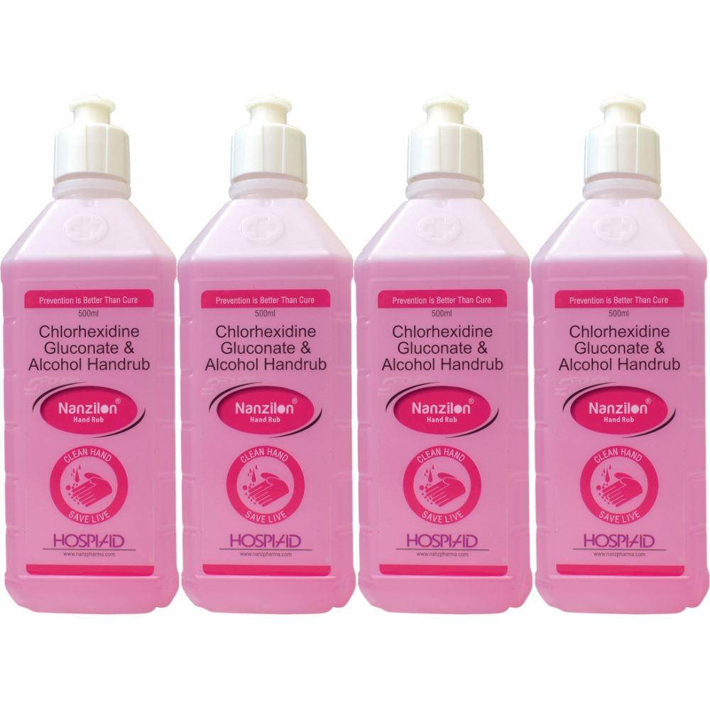 Nanzilon Liquid Handrub (500ml, Pack of 4)