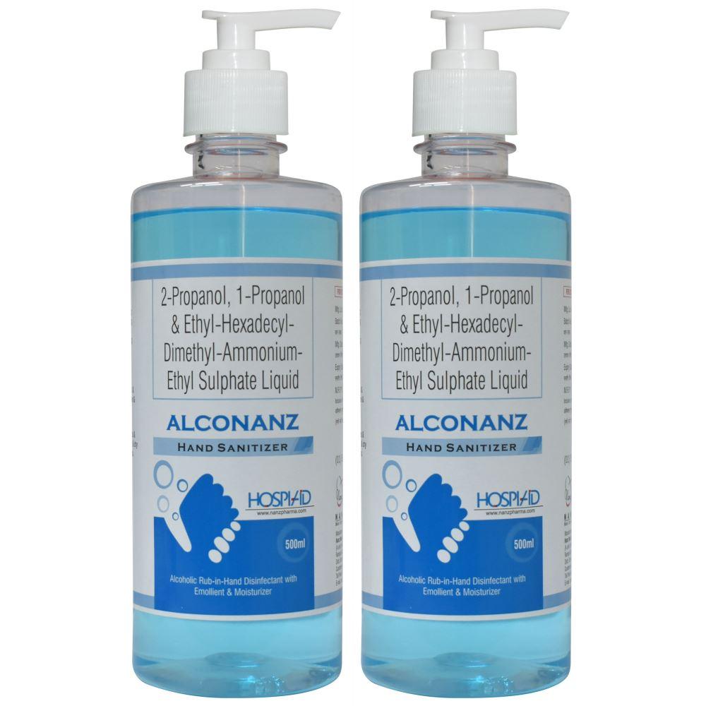 Alconanz Liquid Handrub Sanitizer (500ml, Pack of 2)