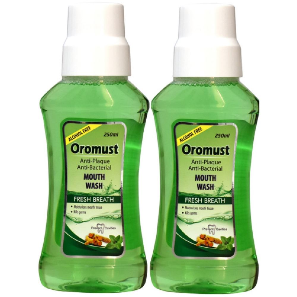 Oromust Mouthwash (250ml, Pack of 2)