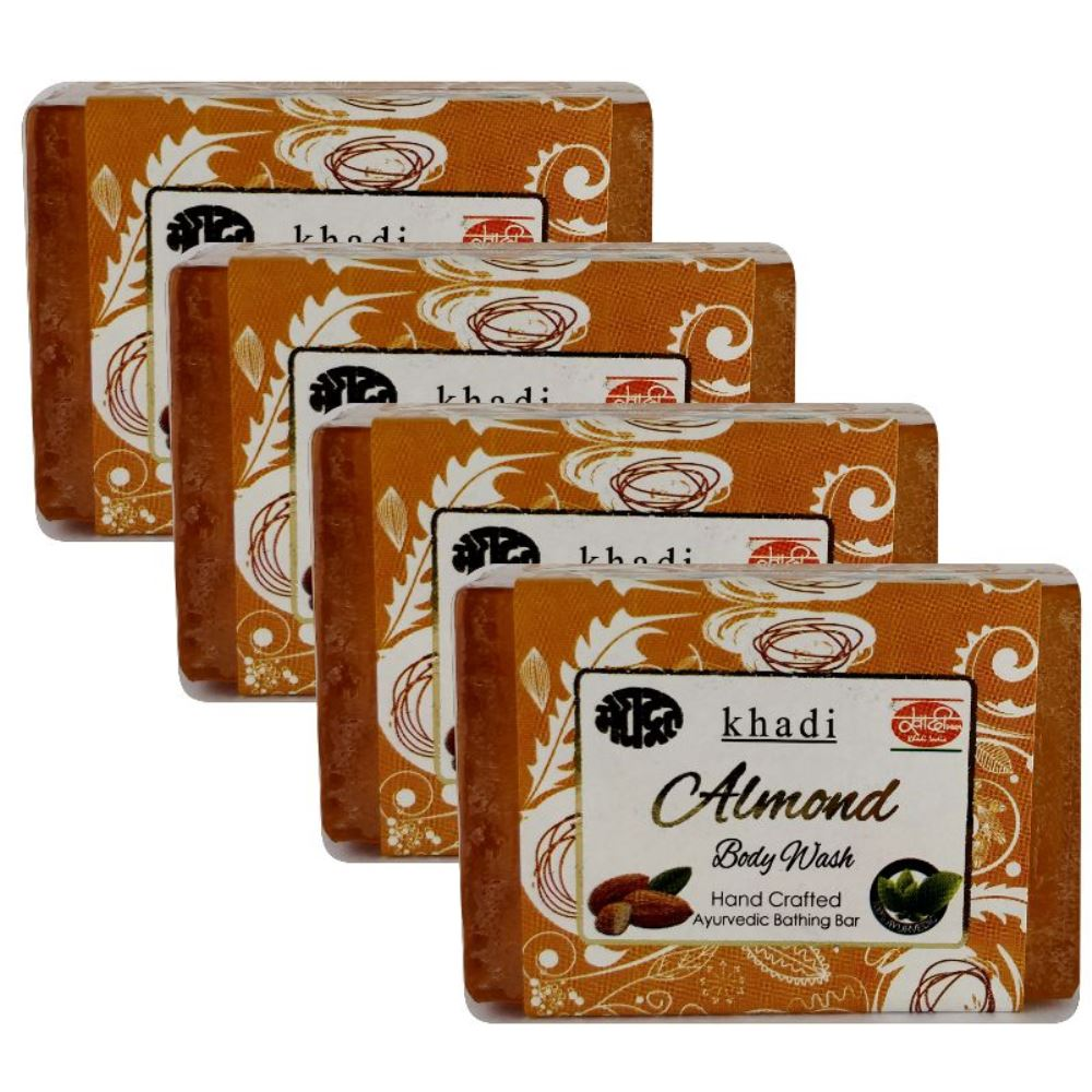 Meghdoot Almond Body Wash Soap (125g, Pack of 4)