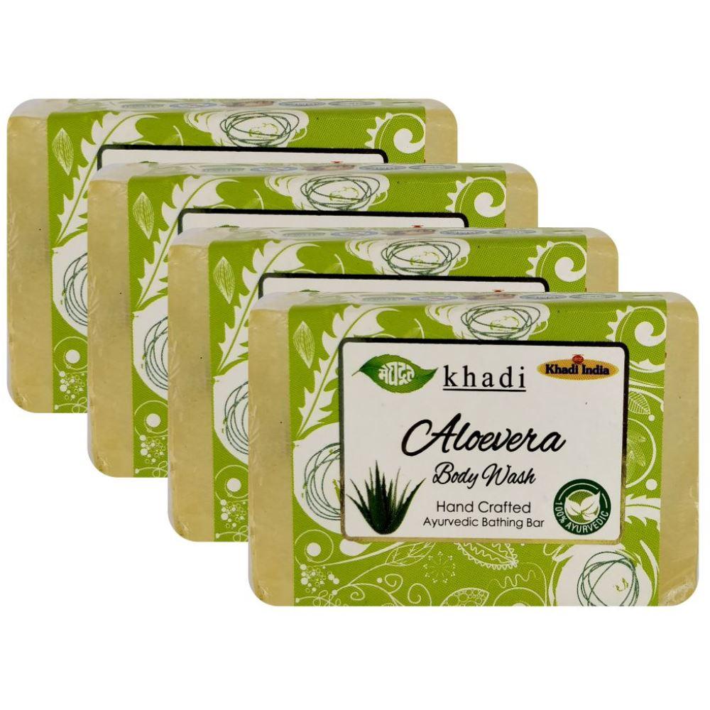 Meghdoot Aloevera Body Wash Soap (125g, Pack of 4)
