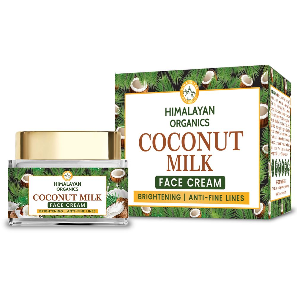 Himalayan Organics Coconut Milk Brightening & Anti-Fine Lines Face Cream (50g)