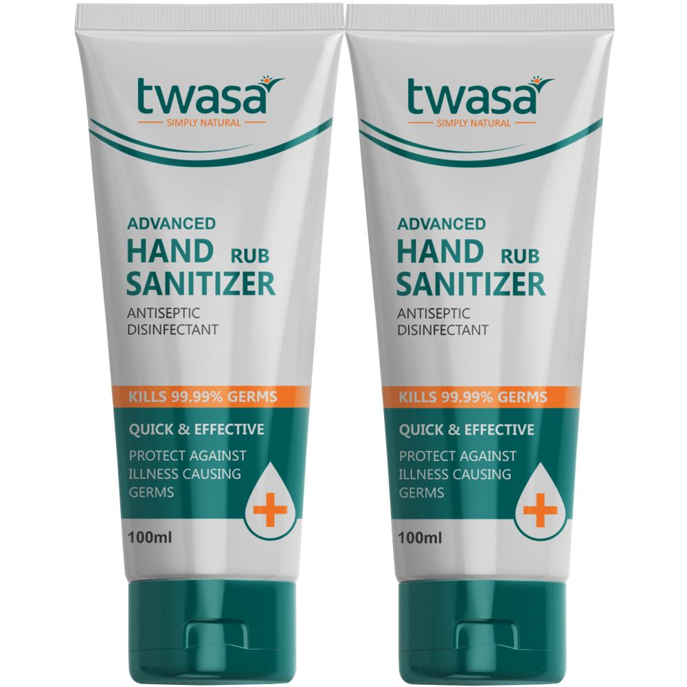 Twasa Advanced Hand Rub Sanitizer (100ml, Pack of 2)