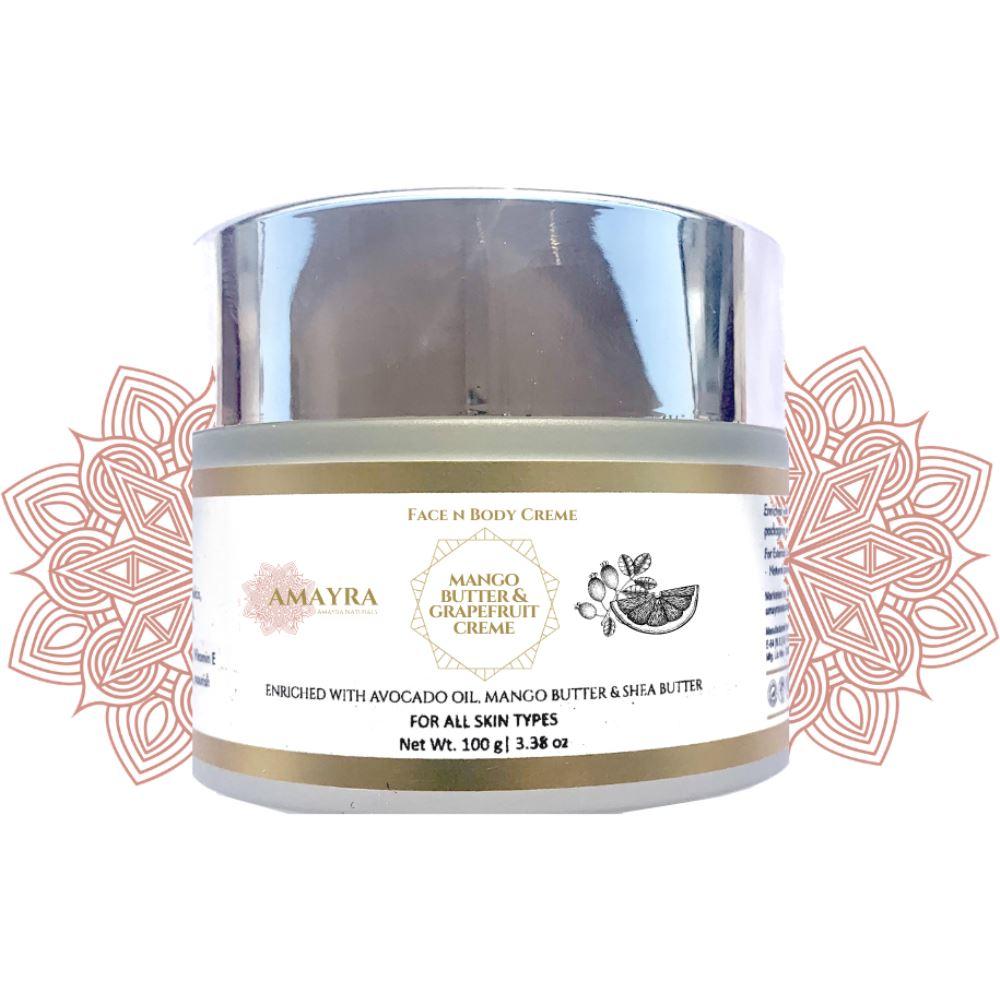 Amayra Naturals Mango Butter & Grapefruit Face N Body Creme (100g)