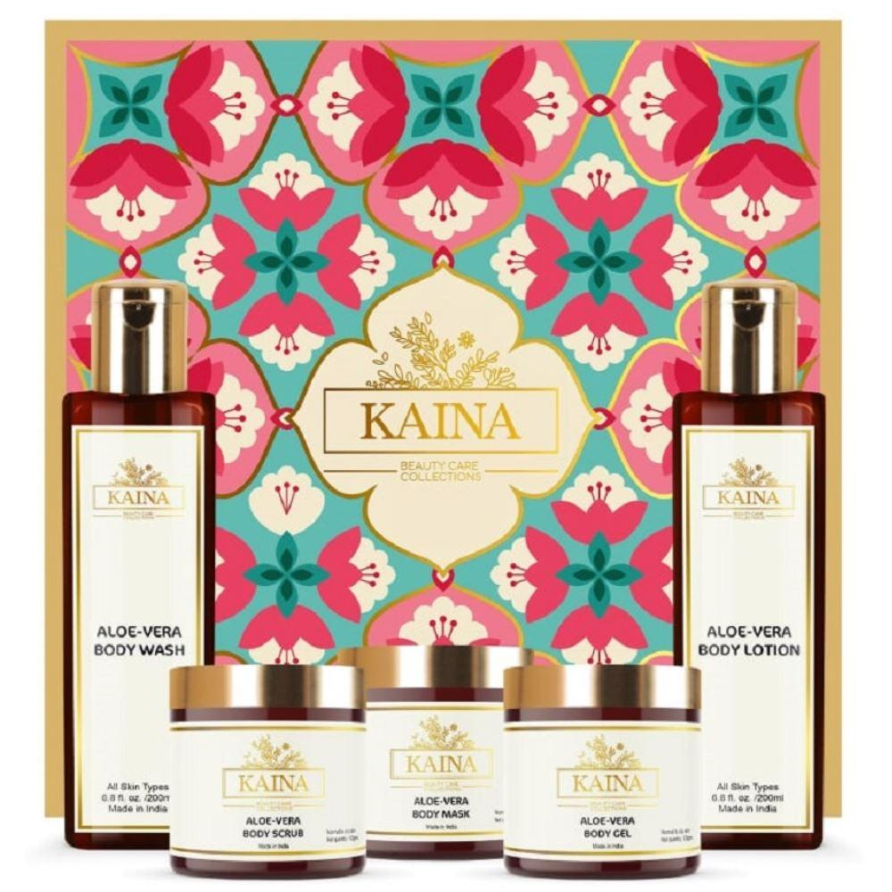Kaina Skincare Aloevera Body Polishing Kit Set Of 5 (1Pack)