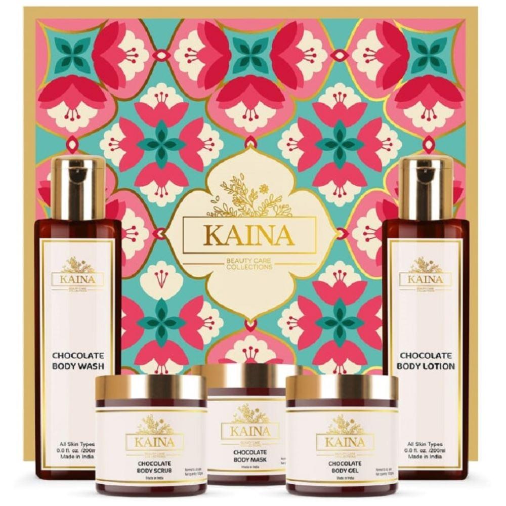 Kaina Skincare Chocolate Body Polishing Kit Set Of 5 (1Pack)