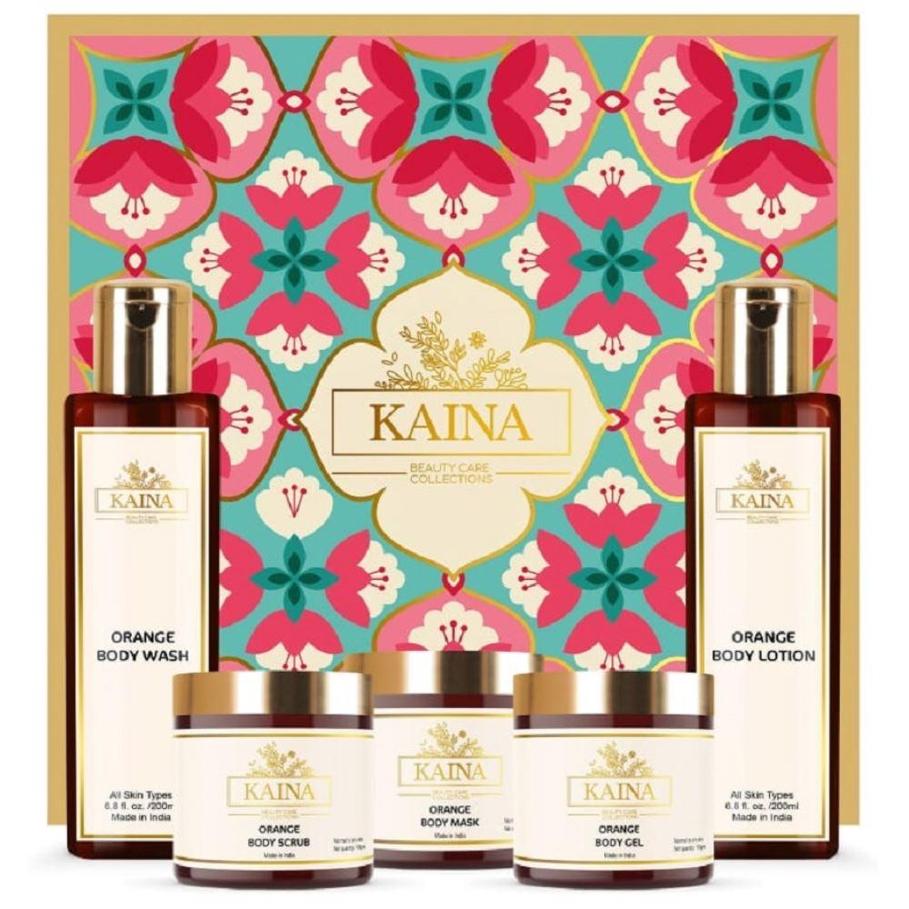 Kaina Skincare Orange Body Polishing Kit Set Of 5 (1Pack)