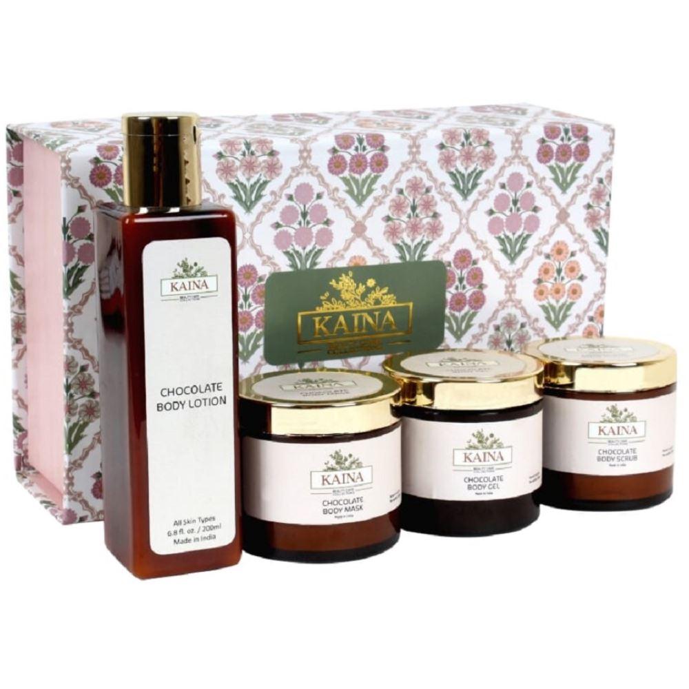 Kaina Skincare Chocolate Body Polishing Kit Set Of 4 (1Pack)