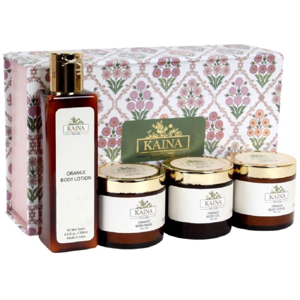 Kaina Skincare Orange Body Polishing Kit Set Of 4 (1Pack)