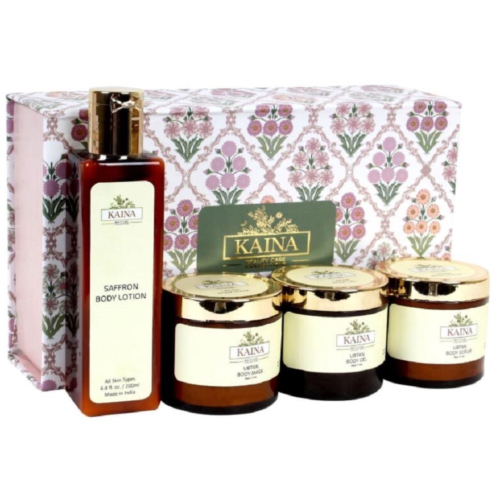 Kaina Skincare Ubtan Body Polishing Kit Set Of 4 (1Pack)