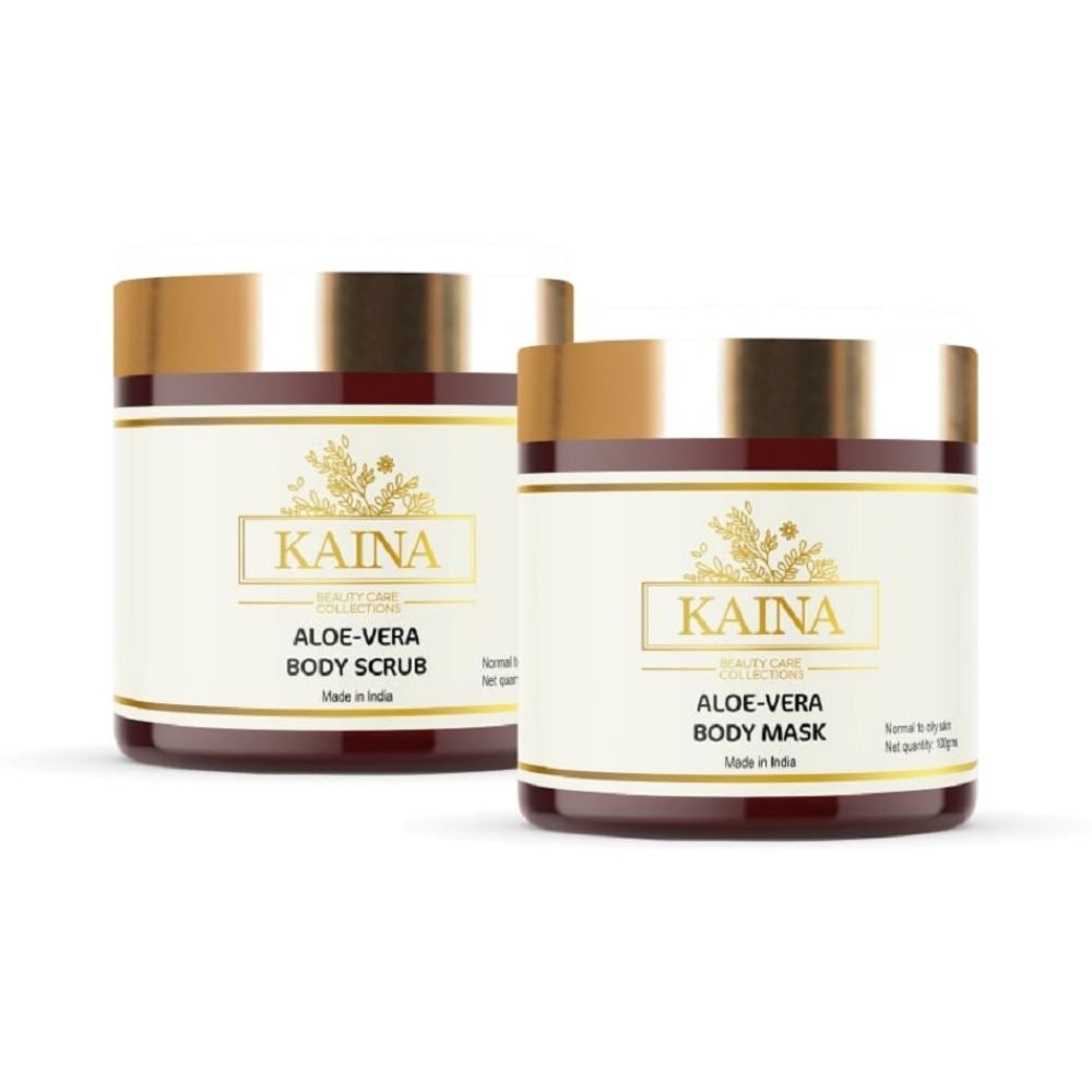 Kaina Skincare Aloevera Body Mask & Scrub Combo (1Pack)