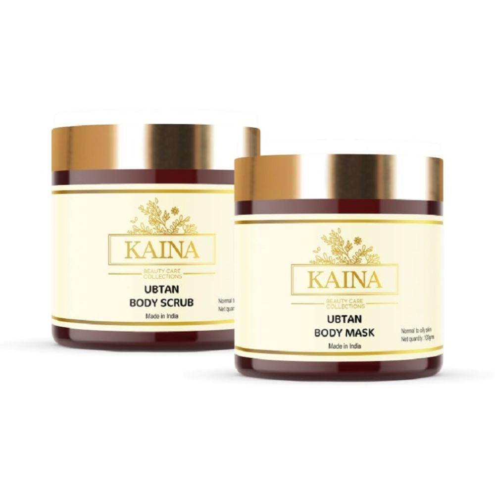 Kaina Skincare Ubtan Body Mask & Scrub Combo (1Pack)