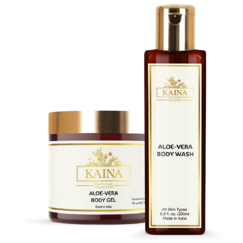Kaina Skincare Aloevera Body Gel & Wash Combo (1Pack)