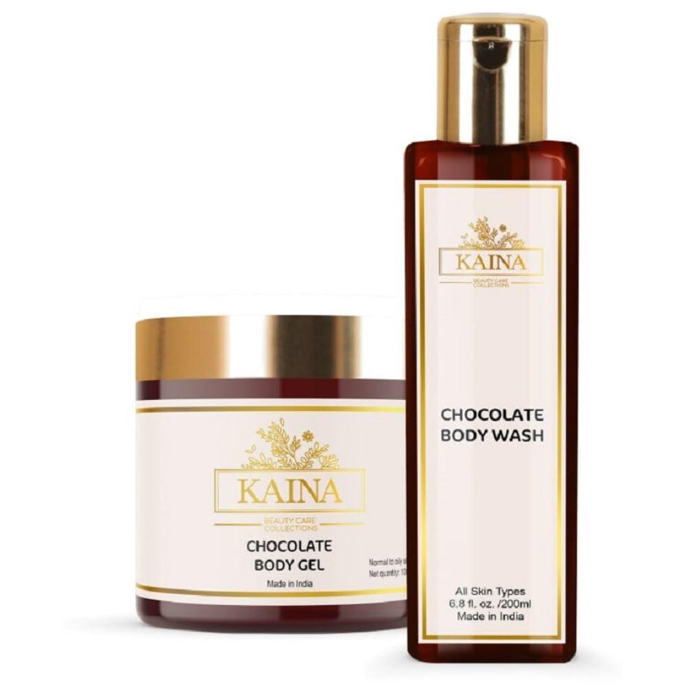 Kaina Skincare Chocolate Body Gel & Wash Combo (1Pack)
