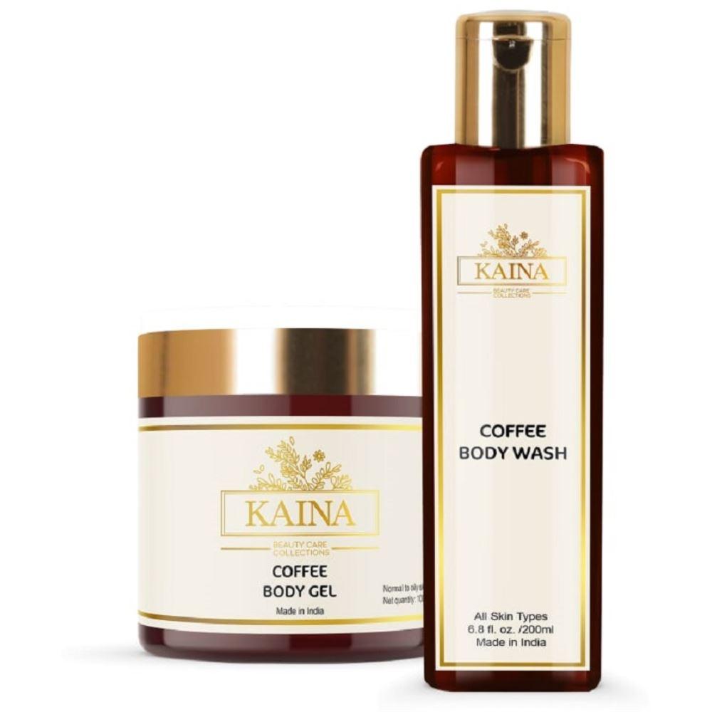 Kaina Skincare Coffee Body Gel & Wash Combo (1Pack)