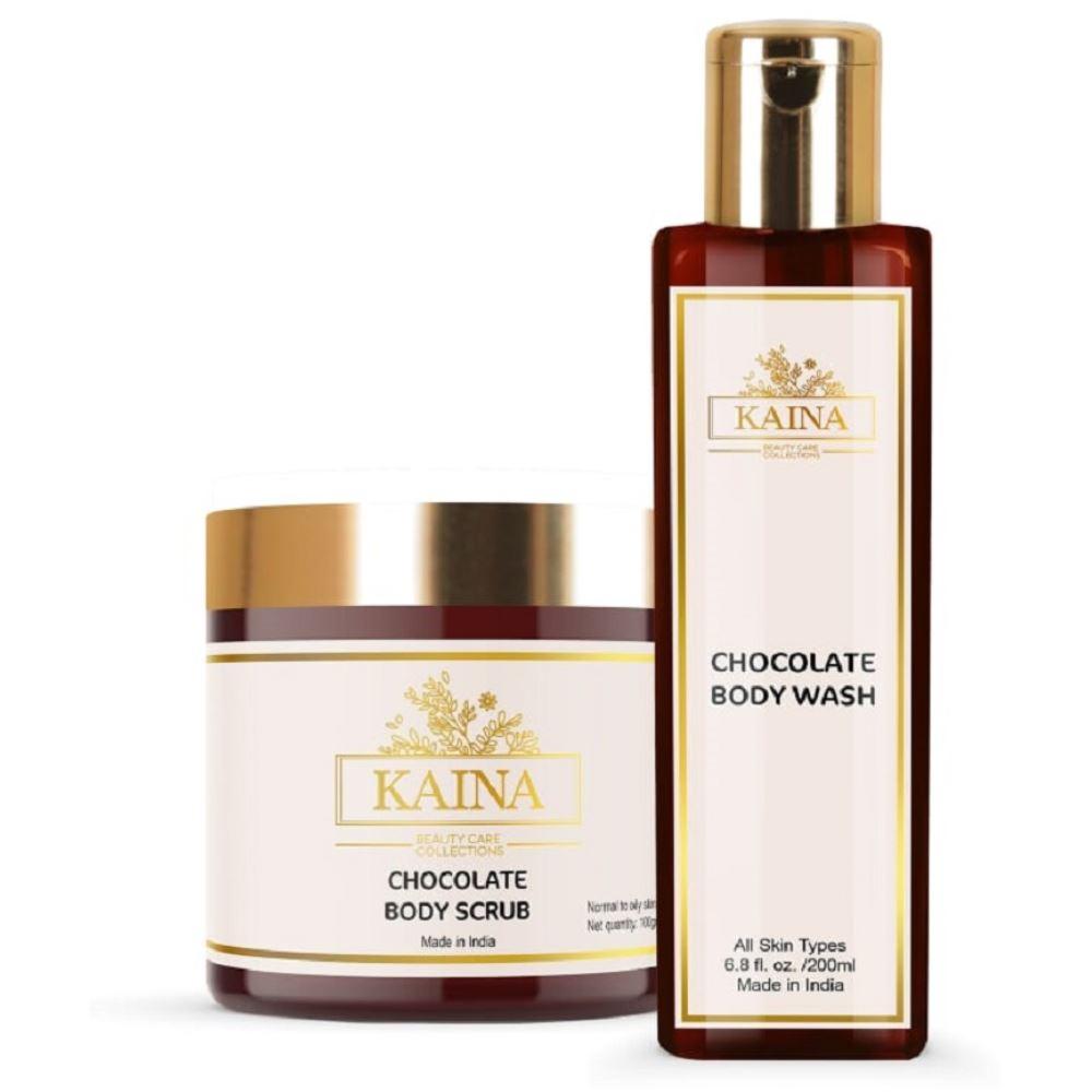 Kaina Skincare Chocolate Body Scrub & Wash Combo (1Pack)