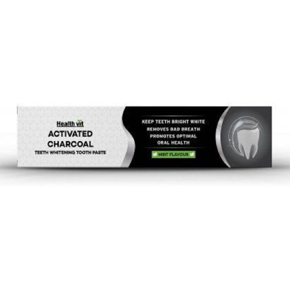 Healthvit Activated Charcoal Toothpaste (100g)