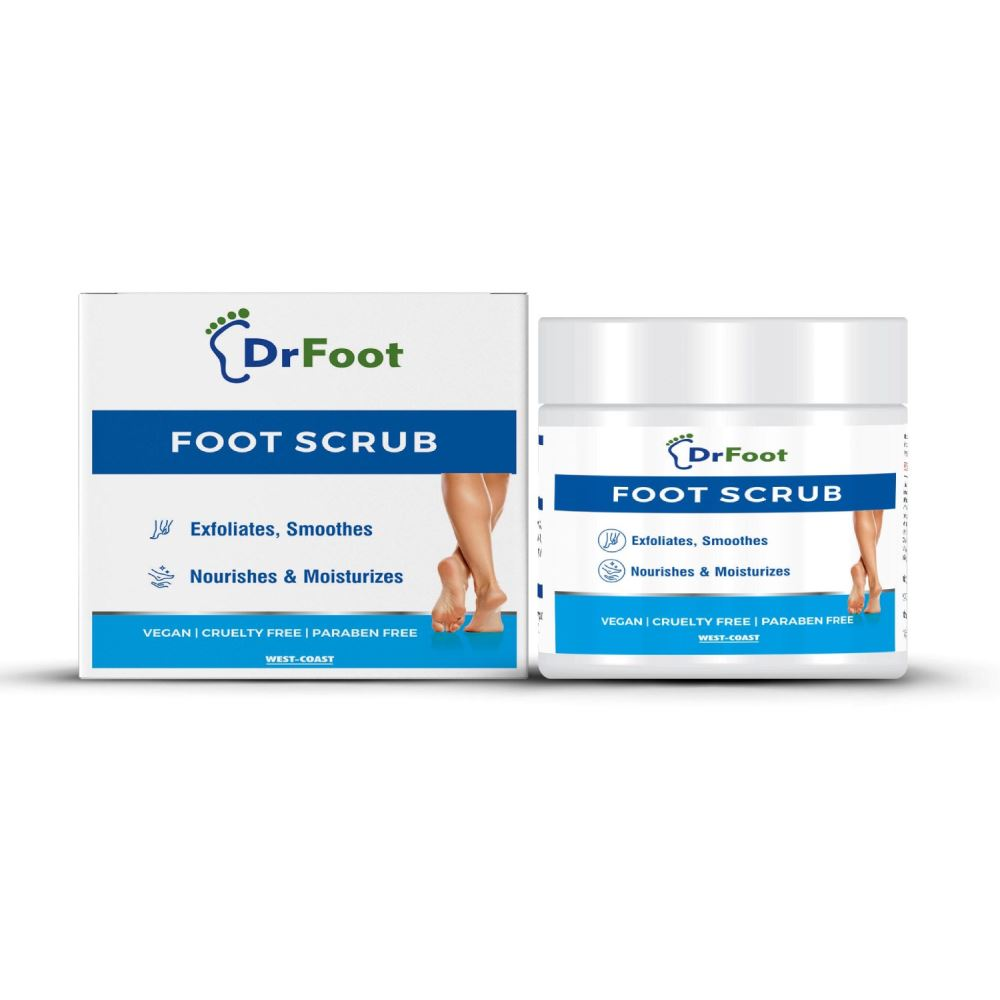 Dr Foot Foot Scrub With Tea Tree, Sweet Almond Oil (100g)