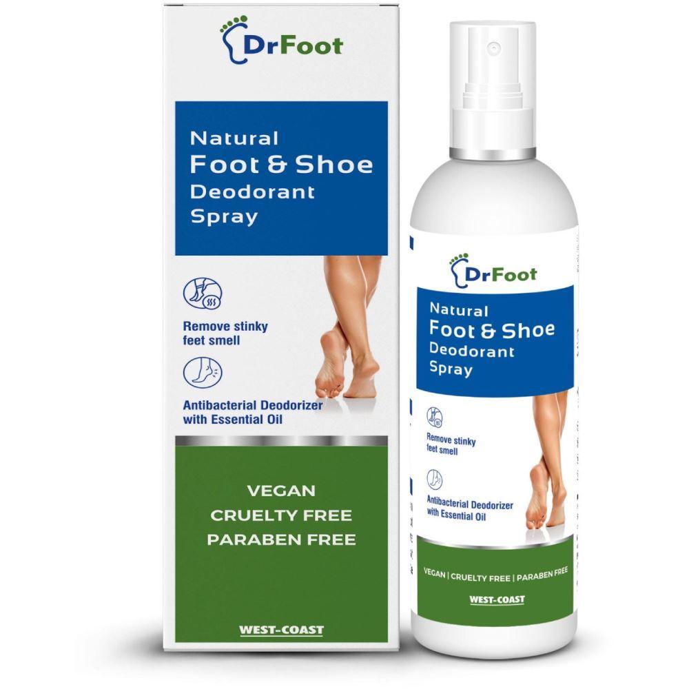 Dr Foot Natural Foot & Shoe Deodorant Spray (100ml)