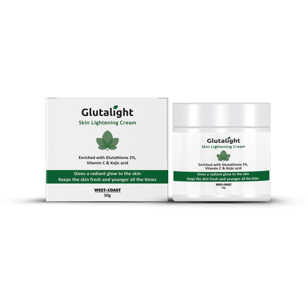 Glutalight Glutathione, Vitamin C, Kojic Acid Skin Brightening & Lightening Cream (50g)