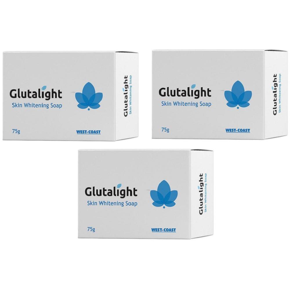 Glutalight Skin Lightening Soap (75g, Pack of 3)