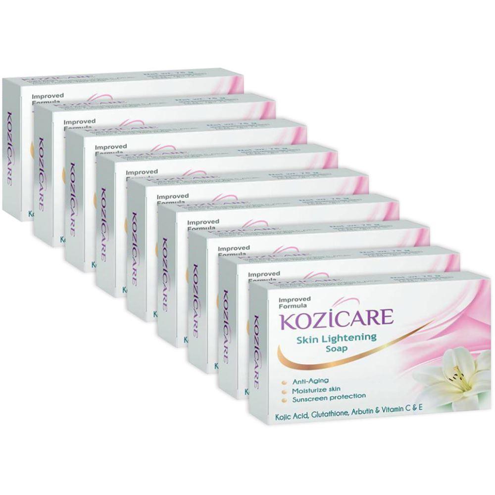 Kozicare Kojic Acid, Vitamin E, Arbutin Skin Lightening Soap (75g, Pack of 9)