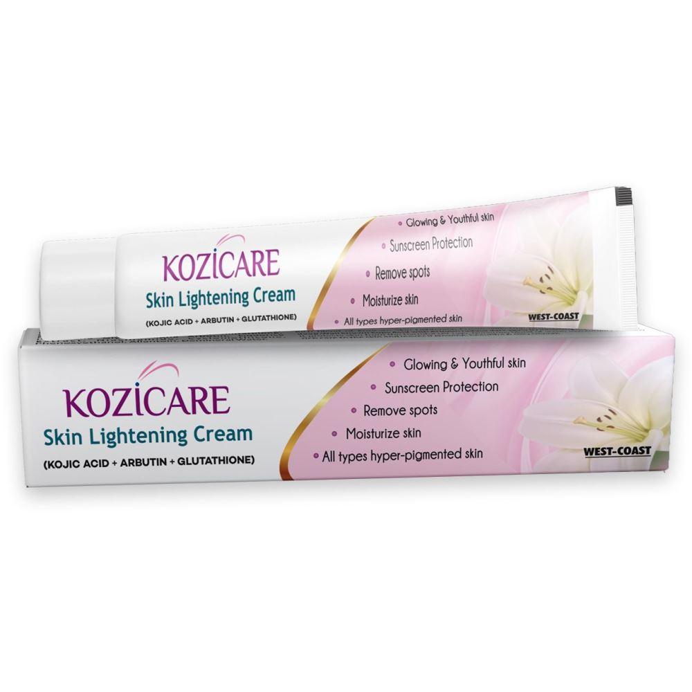 Kozicare Kojic Acid, Arbutin,Glutathione Skin Lightening Cream (15g)