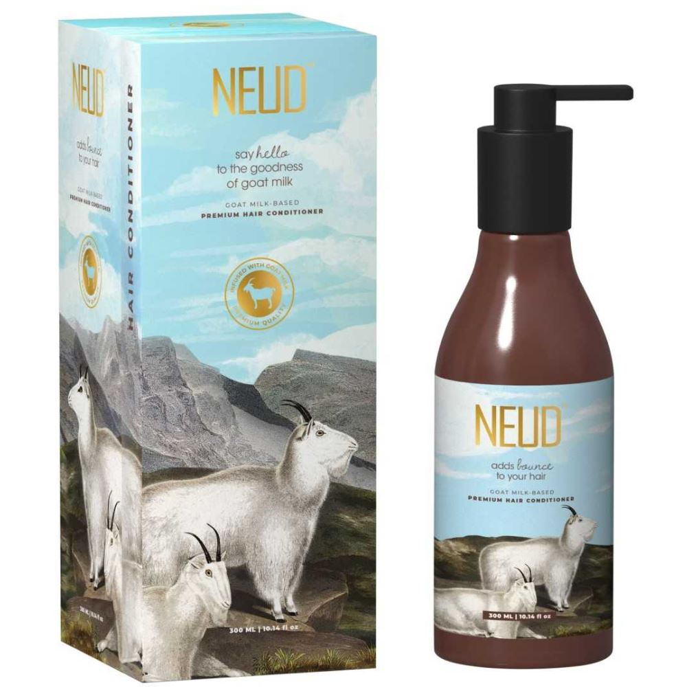 NEUD Goat Milk Premium Hair Conditioner With Free Pouch (300ml)