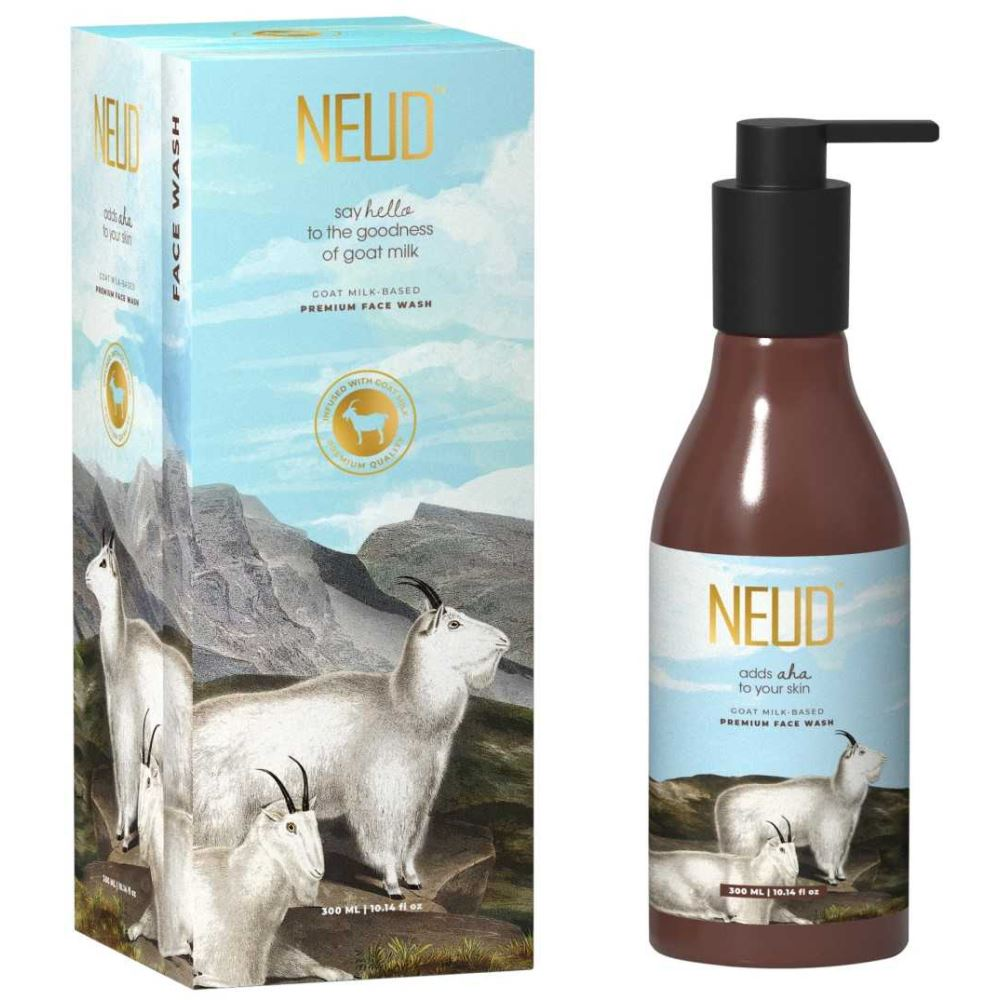 NEUD Goat Milk Premium Face Wash With Free Pouch (300ml)