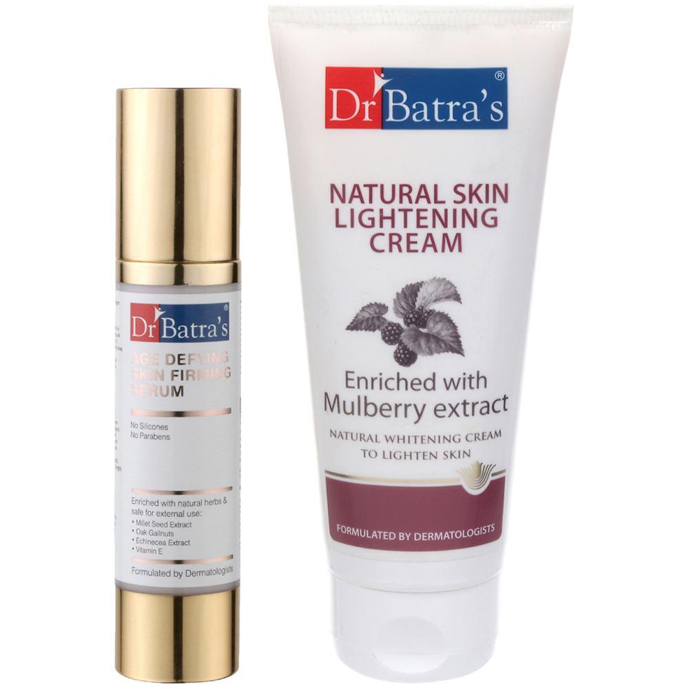 Dr Batras Age Defying Skin Firming Serum & Natural Skin Lightening Cream Combo (1Pack)