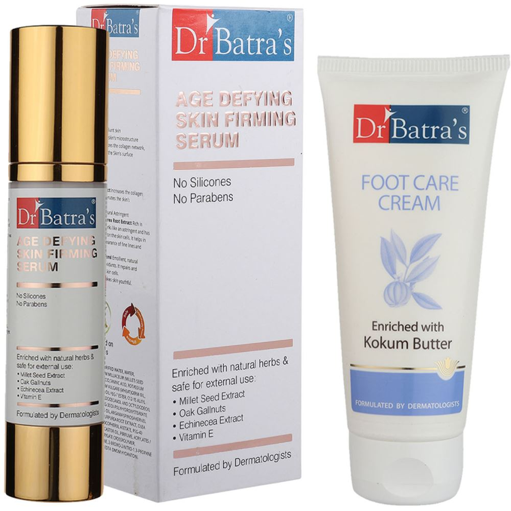 Dr Batras Age Defying Skin Firming Serum & Foot Care Cream Combo (1Pack)