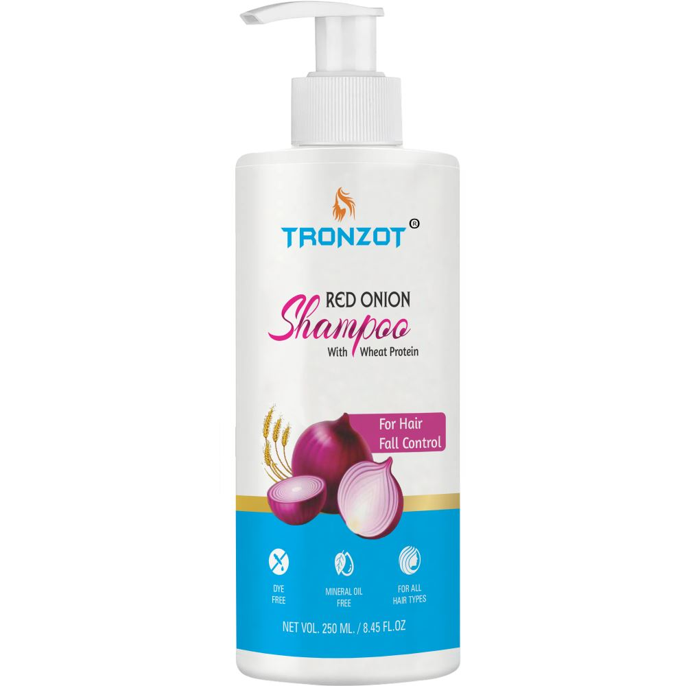 Tronzot Red Onion Shampoo With Wheat Protein (250ml)
