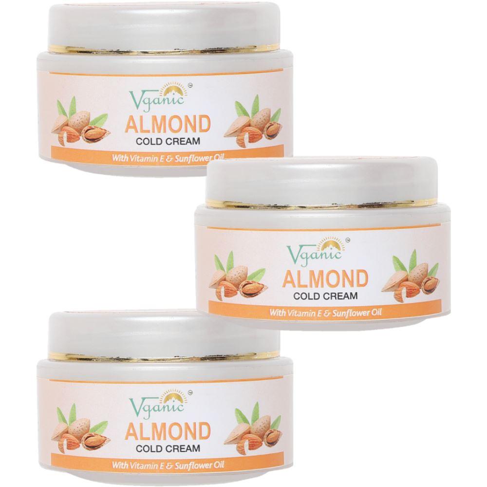 Vganic Almond Cold Cream (50g, Pack of 3)