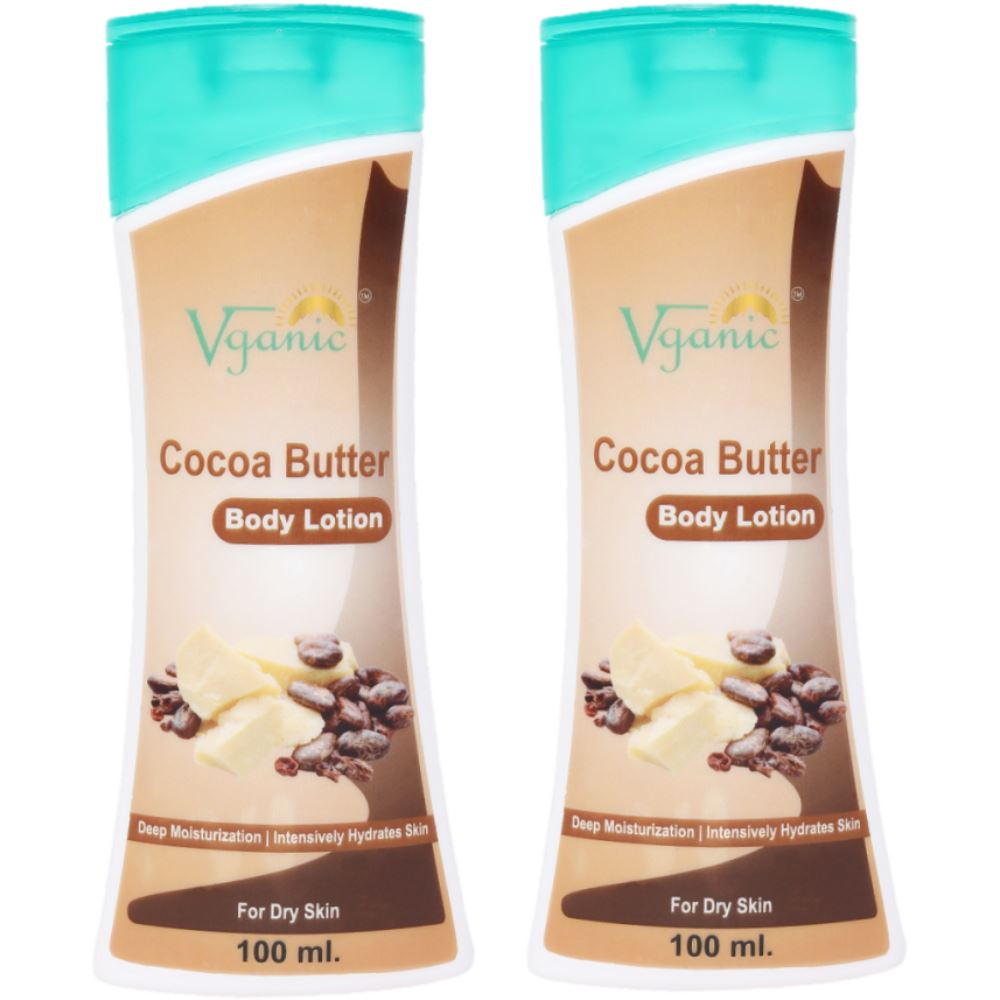 Vganic Cocoa Butter Body Lotion (100ml, Pack of 2)