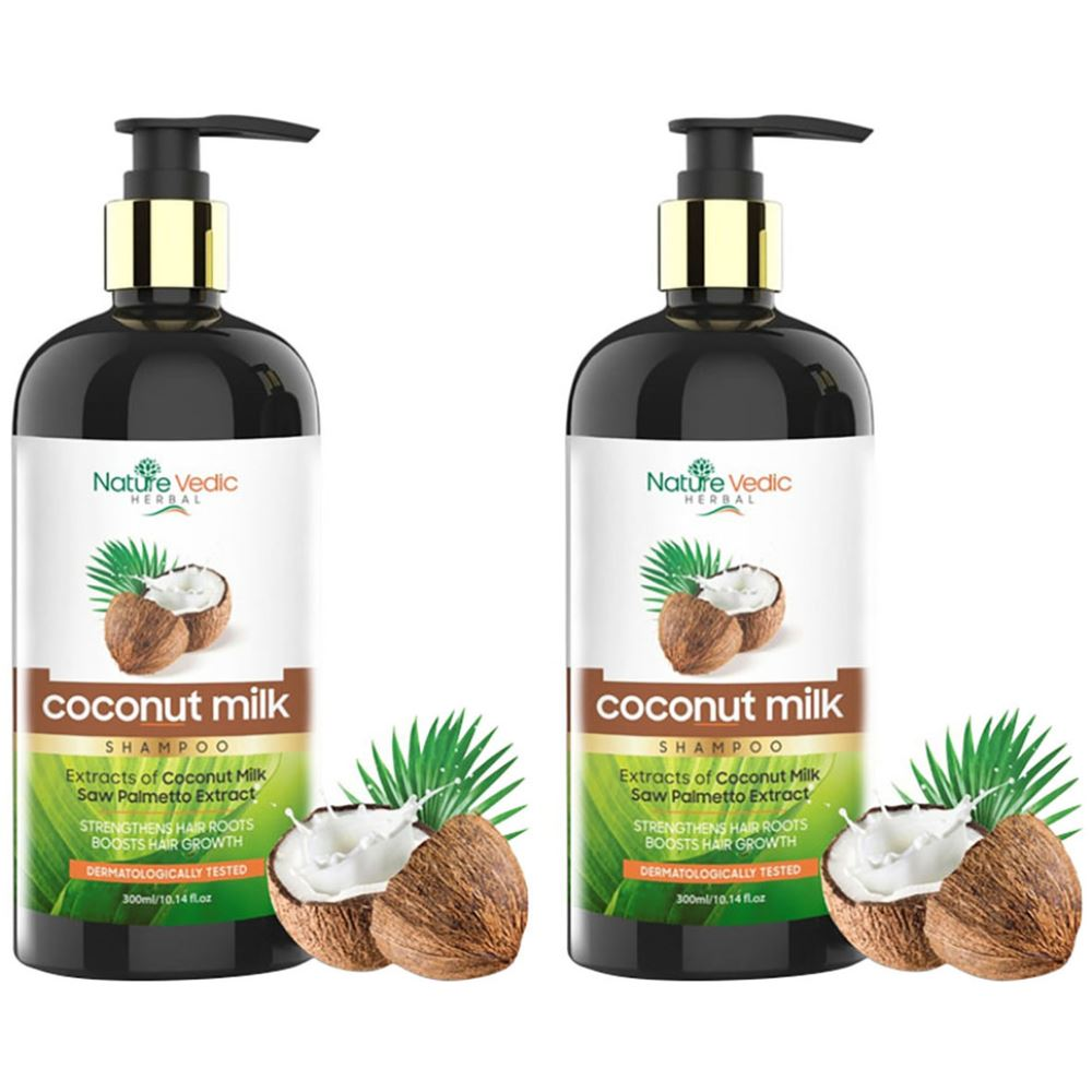 Nature Vedic Coconut Milk Shampoo (300ml, Pack of 2)