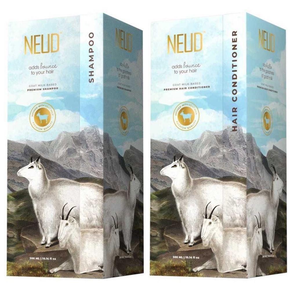 NEUD Goat Milk Premium Shampoo & Hair Conditioner Combo (1Pack)