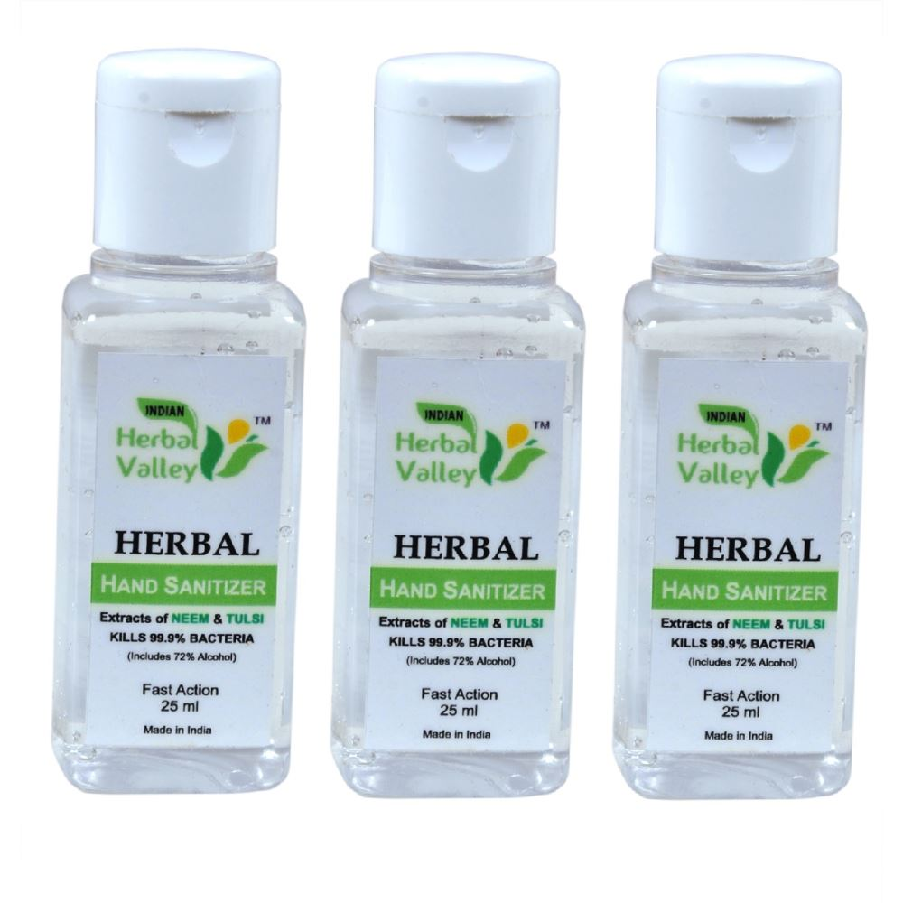 Indian Herbal Valley Hand Sanitizer (25ml, Pack of 3)