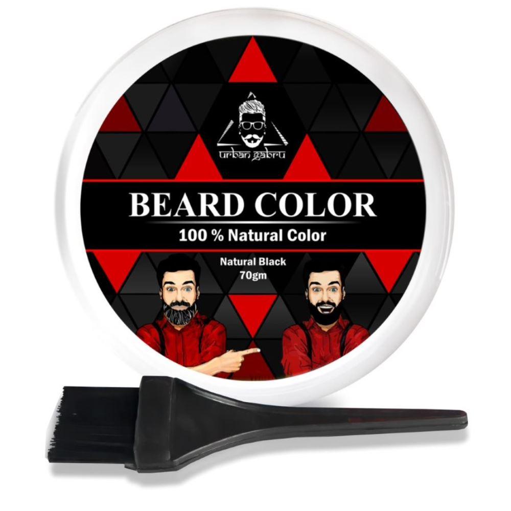 Urban Gabru Beard Color For Men Black (70g)
