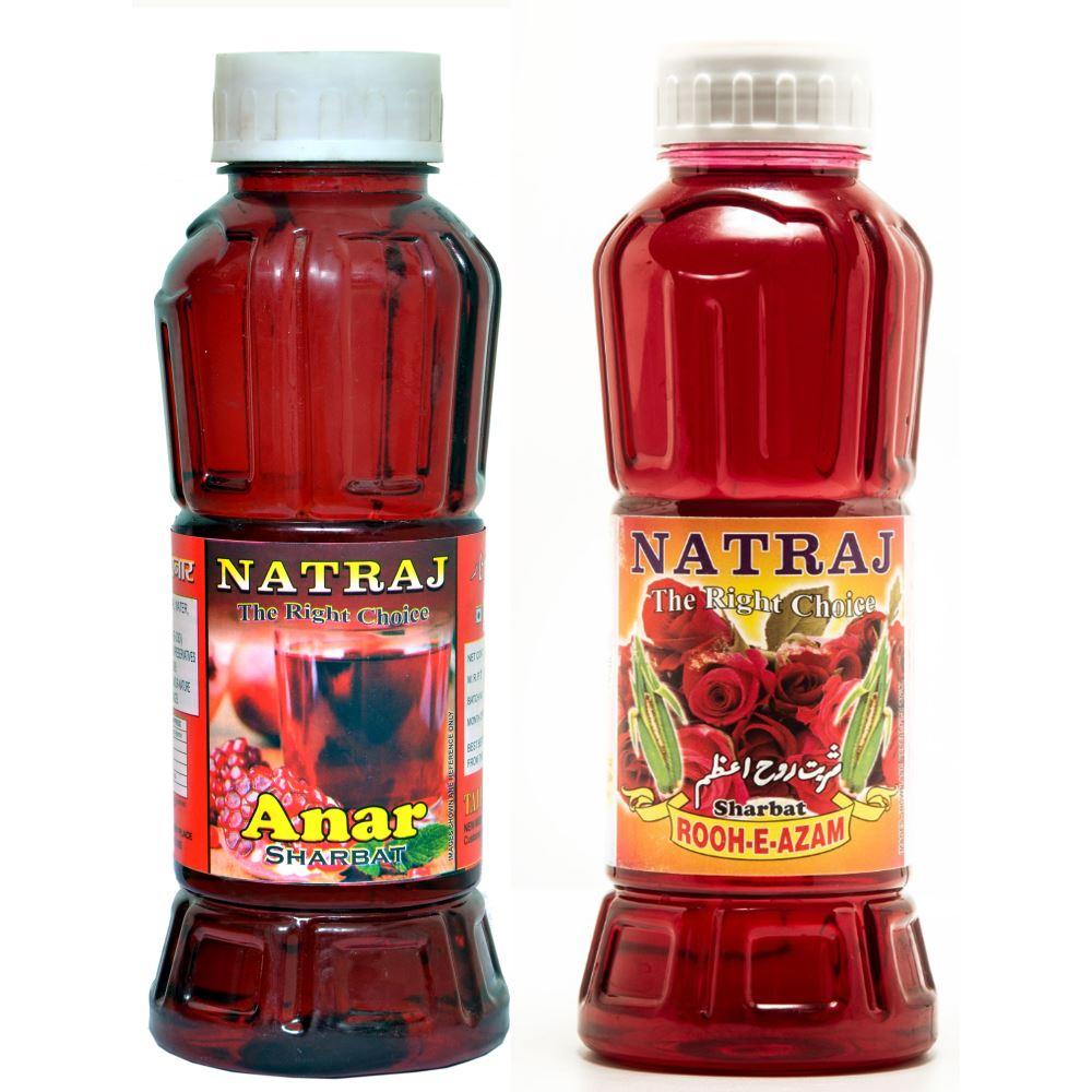 Natraj Anar & Rooh-E-Azam Sharbat Combo (1Pack)