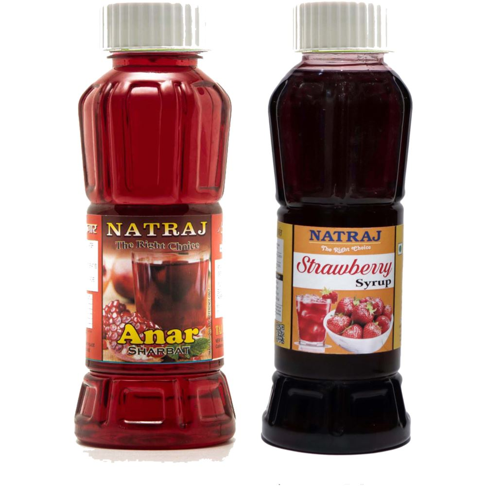 Natraj Anar & Strawberry Sharbat Combo (1Pack)