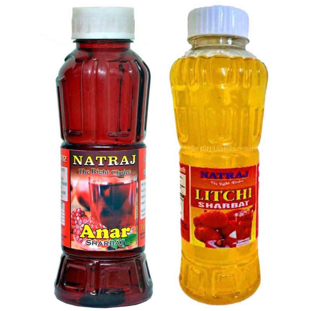 Natraj Anar & Litchi Sharbat Combo (1Pack)