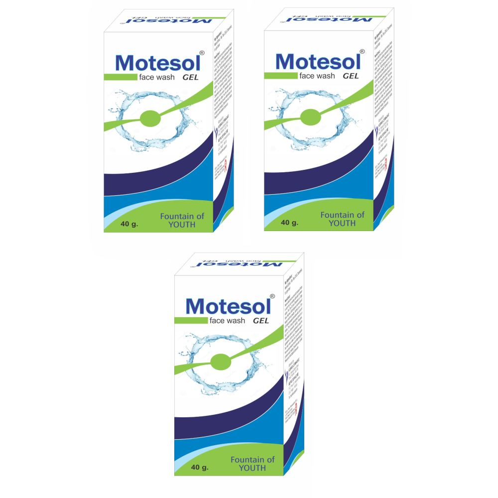 Tantraxx Motesol Face Wash Gel (40g, Pack of 3)