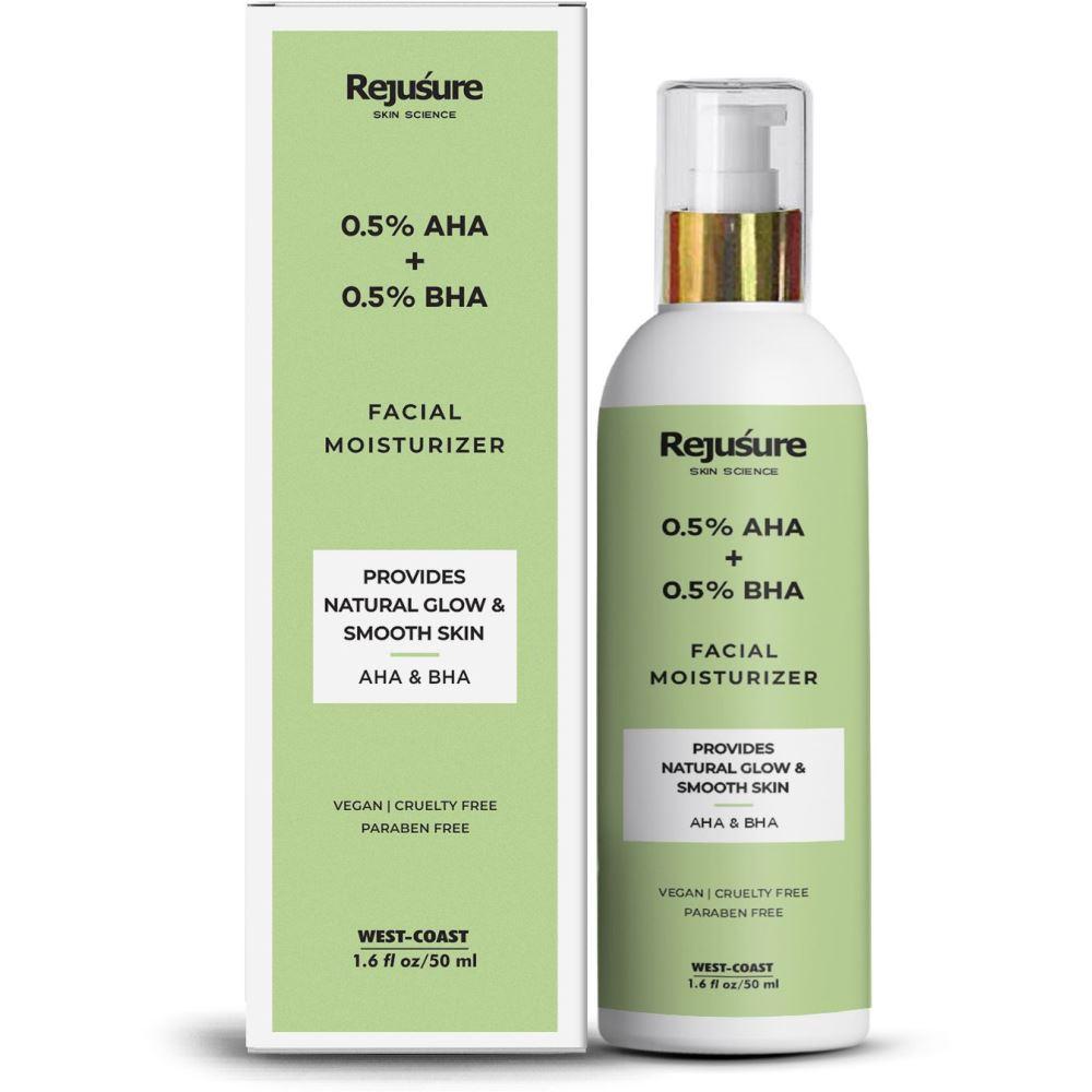 Rejusure Aha 0.5% + Bha 0.5% Facial Moisturizer (50ml)